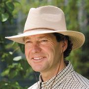 UVカット帽子 - メンズ ハット -  リボン メンズ フェドーラ ベージュ サイズ:58cm/60cm