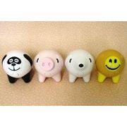 【アウトレット】≪癒し系≫ぶるぶるマスコット パンダ/小豚/小犬/スマイル(ニコニコ)