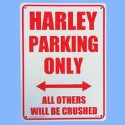 プラスティックサインボード CA-34 ハーレー専用駐車場