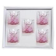【感謝をこめて沖縄伝統工芸品を贈ります】陽桜でこぼこグラス5個ギフトセット