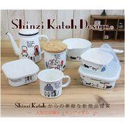 shinzi katoh design Paris cats シリーズ ホーロー(キャニスター ミルクパン コーヒーポットなど)