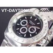 VITAROSOメンズ腕時計 メタルウォッチ 日本製ムーブメント デイトナタイプ