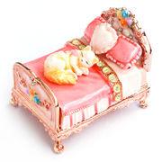 マリーのミニチュアベッド 宝石箱 ジュエリーボックス