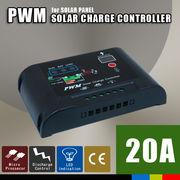 太陽光パネル ソーラーパネル チャージコントローラー 20A PWM パネル~バッテリー
