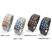 超人気! LEDライト腕時計 ブレスタイプ ファッションウォッチ