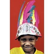 この羽飾りは本物の羽で作られた【インディアンフェザーバンド】