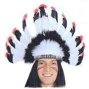 本物の羽根を使った【インディアン羽飾り】ウォーボネット