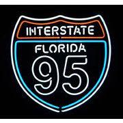 INTERSTATE FLORIDA 95  (ネオン管 看板 アメリカン雑貨 ・NEON SIGN・ネオンサイン)
