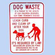 DOG WASTE トラフィックサインボード