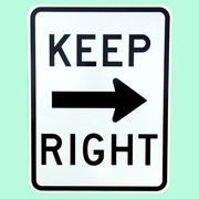 US KEEP RIGHT トラフィックサインボード