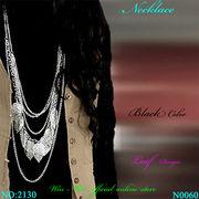ネックレス ボヘミアンマルチリーフデザインのレディ-スファッションロングネックレス