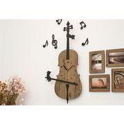 ハンドメイドウォールクロック - Cello (チェロ)