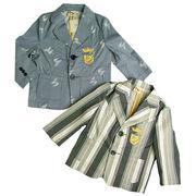 ミニマスター オシャレデザインのテーラードジャケット(濠Du)85-110cm