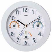 《日本製》【不快指数計・温湿度計付き掛け時計】トキメクス快適計