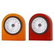 《日本製》【天然木スタンダード】ベルモント温度・湿度計