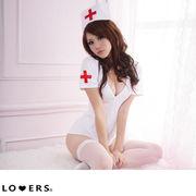 ハロウィン ナース 3点セット ma【即納】コスプレ 仮装 衣装 ワンピース ホワイト イベント