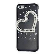 iPhoneSE / iPhone5s iPhone SE iPhone 5s デコケース 3Dハート ブラック