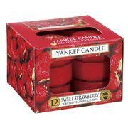 【キャンドル】YANKEE CANDLE YCクリアカップティーライト12個セット/生活雑貨