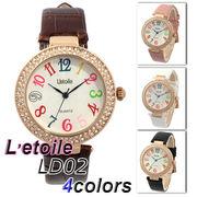 L'etoile 煌びやかなフェイス レディース 腕時計 LD02
