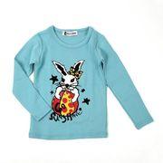 プリント薄手長袖Tシャツ (ウサギ) 90cm~140cm 綿100%