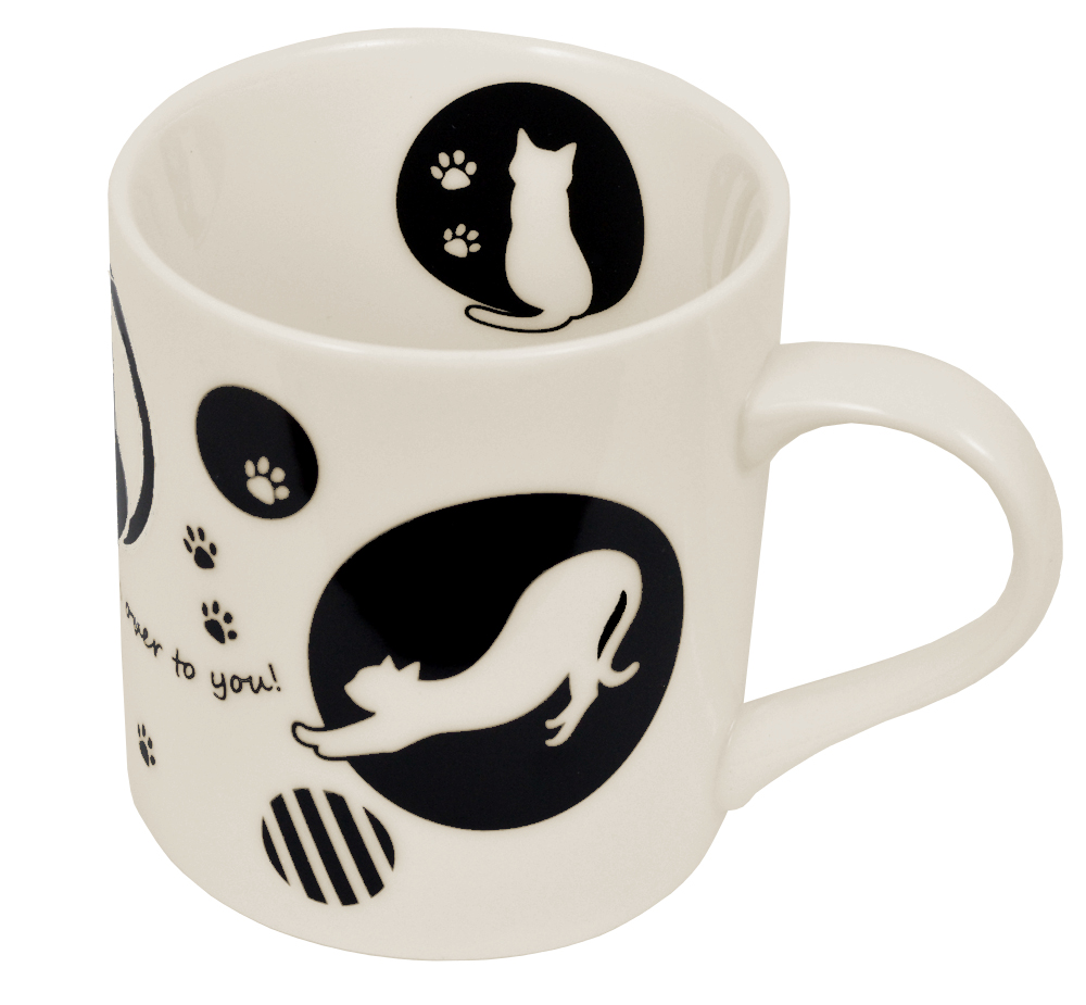 黒猫マグカップ 【 ディアキャッツシリーズ 】