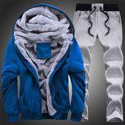 スエットセット トレーナー 冬服 スポーツウェア 防寒着 メンズ用上下セットアップ 裏起毛 ジャージ