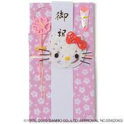【3個単位での販売】造花アーティストトシ子ちゃん×ハローキティ ハローキティのし袋【ピンク】