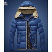 厳冬 厚地メンズ中綿ダウンジャケット 2重フード付け 綿入りスリム暖かいアウターコート ダウンコート
