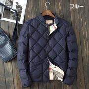 ブルゾン メンズ 冬服 撥水加工コート 暖かい 厚手 フルジップ 中綿 フーデッド ジャケット アウター