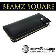 BEAMZSQUARE 馬革コードバンL字ZIPロングウォレット BS-1280