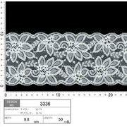 【伸縮あり!ストレッチレース】★レース巾9.8cm 動きのある花柄のレースです♪