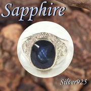 リング / 11-0077s  ◆ Silver925 シルバー リング サファイア 21号
