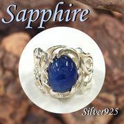 大きいサイズ / 11-0087  ◆ Silver925 シルバー リング サファイア 23号