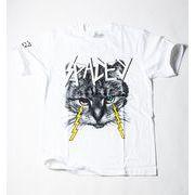 SPACE NINE クルーネック デザイン Tシャツ 猫 アニマル