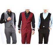 高品質スーツベスト  結婚式メンズ ビジネス  通勤  紳士 チョッキ 二次会 リクルート 礼服