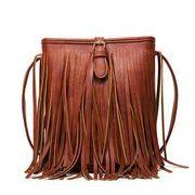 レディース 鞄 フェイクレザー 合皮 バイカラー シンプル 通勤 フリンジ バケツパック 4色