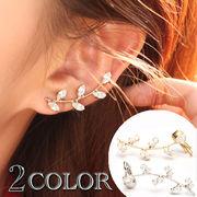 耳元を華やかに彩るピアス付きイヤーカフ・イヤーカフス  KPE-29