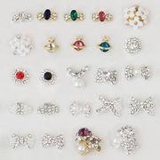 diy 偽の爪 真珠 飾り ダイヤモンド 部品が入っている ネール ダイヤモンド