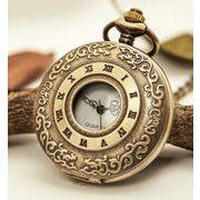■懐中時計■  ローマ数字+唐草柄