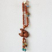 【風水 開運 インテリア】数珠型 根付け ひょうたん ヒキュウ 貔貅