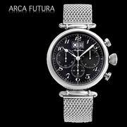 正規品【ARCA FUTURA アルカフトゥーラ】クロノグラフ腕時計[全3色] 420BK-M
