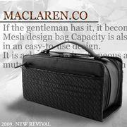 【MACLAREN.co】 スクエアタイプセカンドバッグ メッシュモデル AN-2046