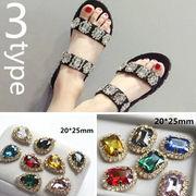 BLHW147291◆5000以上【送料無料】◆靴のチャーム◆ビッグラインストーン 宝石質 シューズアクセサリー