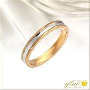 ジュレリングピンクゴールド(Jurer/誓い)ステンレス指輪単品