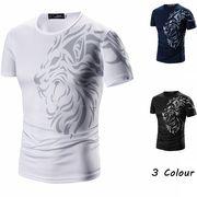 Tシャツ 半袖 クルーネック カットソー 3色 大きいサイズ 100858
