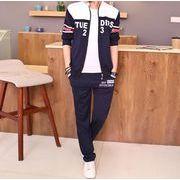 秋/運動スーツ/韓国風/メンズ/パーカー+パンツ2点セット/中学生