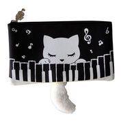 猫のぷーちゃん シッポ付き平ポーチ ピアノ音楽バージョン