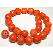 珊瑚(染色) 橙色 ブロック 約18-20mm 約44cm 連販売 約粒22個