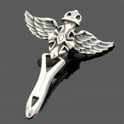 SV925 シルバー ペンダント 天使の翼 十字架【FOREST 天然石 パワーストーン】