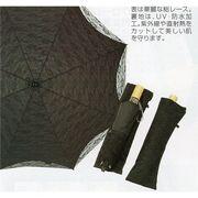 【完売】晴雨兼用総レース二重張折傘